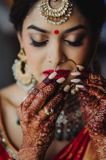 South indian bridal portrait getting ready
