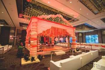 Banquet Mandap with Genda Phool Decor
