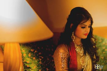 Candid Bride wearing Raani Haar