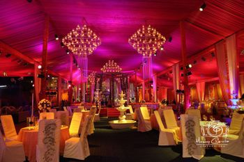 Pink and Gold Themed Banquet Decor