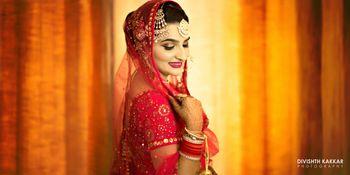 Candid Bride Portrait in Pink