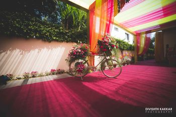 Colorful Tents with FLoral Bicycle Props
