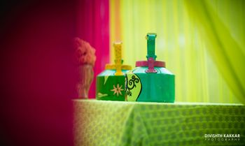 Photo of Green and Pink Decor with Teapots