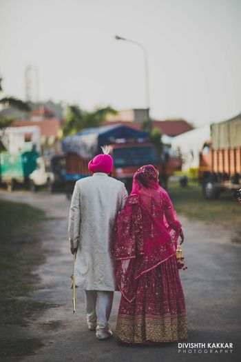 Photo of Couple Walking Candid Shot