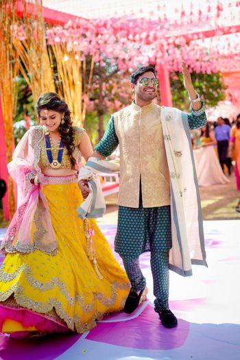 Photo of A couple enjoying on their mehndi day