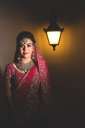 Photo of Modern bridal portrait with light and shadow
