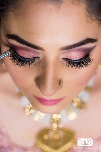Light pink smokey eye makeup for engagement