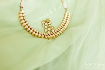 Gold Polki Double String Necklace
