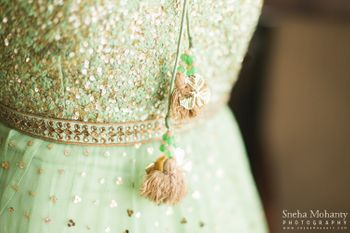 Mint anarkali with tassles
