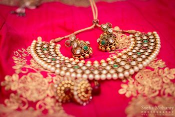 Photo of Bridal Jewelry with Pearls and Kundan