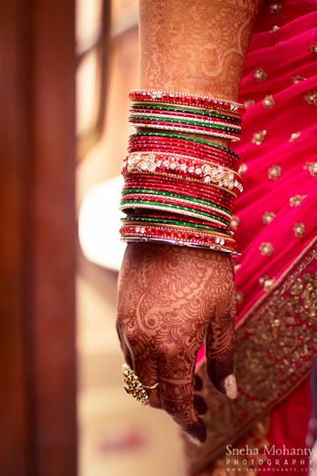 Photo of Red and Green Bangles