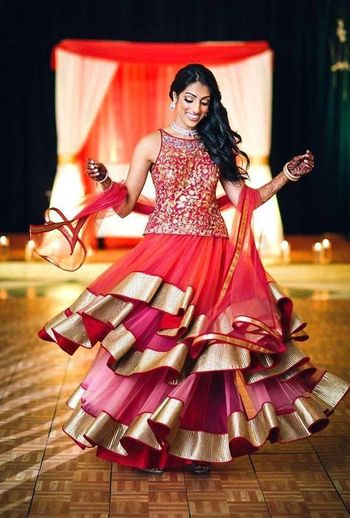 Photo of layered gown floor length
