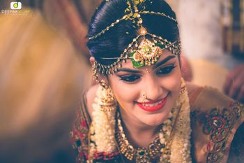 South Indian Bride with Mathapatti