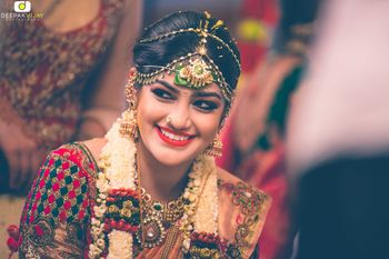 Photo of South Indian Bride Smiling Shot