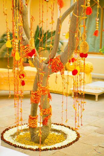 Photo of Mehendi Decor with Gota