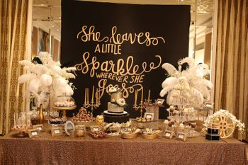 Photo of Desert table in black and gold