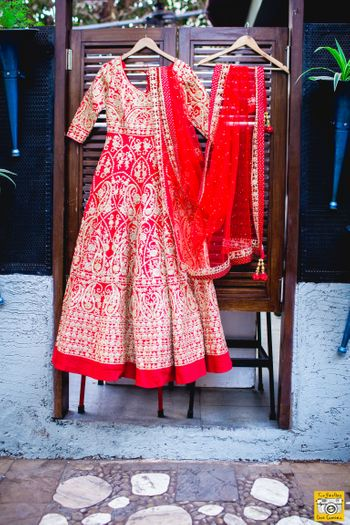 Photo of Red bridal anarkali