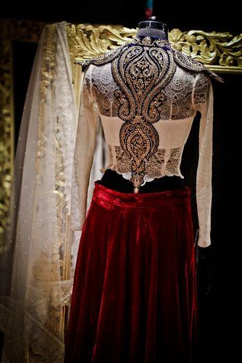 lehenga blouse back