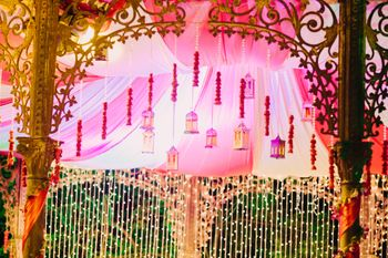 Photo of Pink Floral Entrance with Gold Kaleere