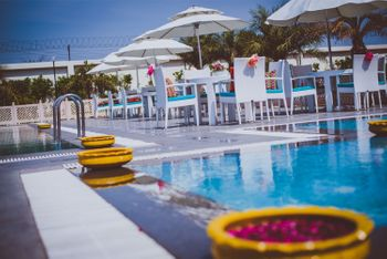 Poolside Venue with Genda Phool Pots
