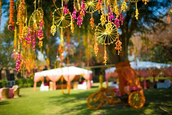 Pink and Gold Dream Catchers with Ghungroo
