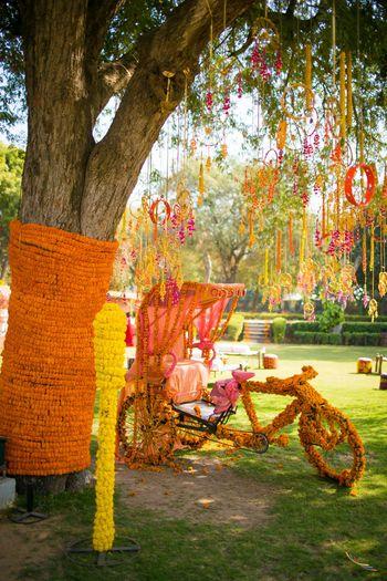 Photo of Genda Phool Rickshaw Props with Dream Catchers