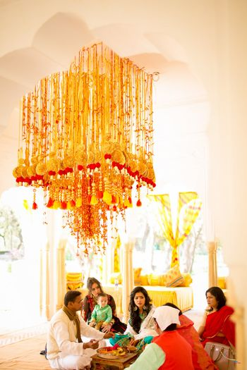 Floral and Gota Chandelier