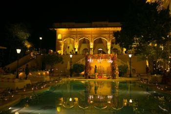 Royal Poolside Venue Mandap Decor