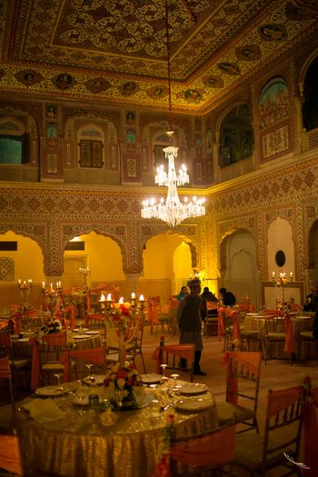 Palace Decor with Chandeliers