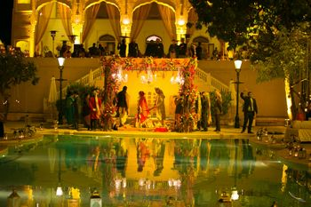 Poolside Palace Wedding Venue Decor