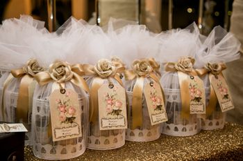 Bird Cage Gold and White Favors