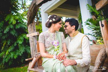 Romantic Candid Couple Shot