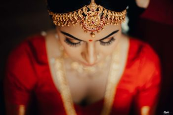 temple jewellery mathapatti for south indian bride