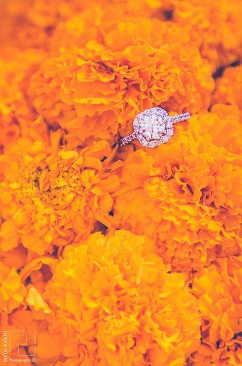 Diamond Solitaire Engagement Ring on Genda Phool Shot