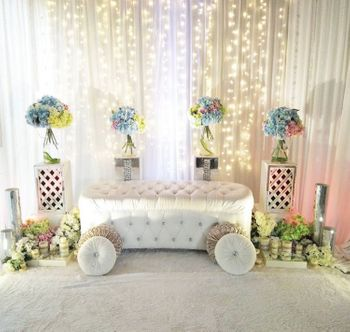 Pastel Floral Arrangement with Buggy Prop