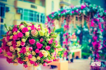 Pink and Yellow Floral Decor