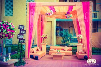 Pink and Gold Tent Decor