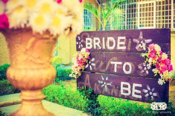 Bride To Be Blackboard Entrance Decor