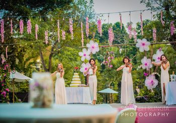 Purple and White Floral Day Themed Decor