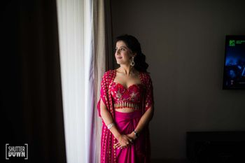 indo western mehendi outfit for bride