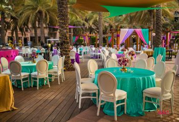 sea green mehendi table decor idea