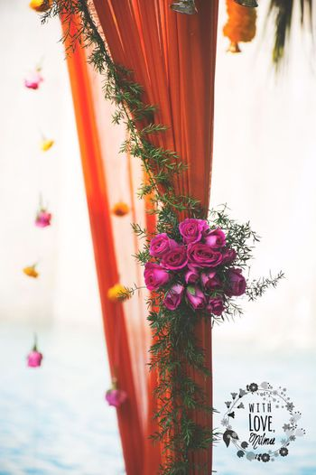 Floral Decor on Curtain Drapes Decor