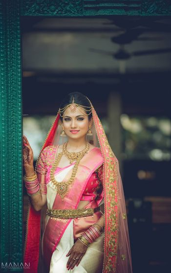 south indian bridal portrait
