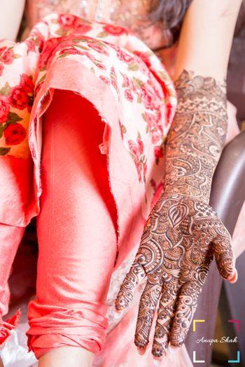 Bridal Hand Mehendi Designs - Lotus Design