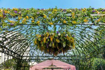botanical entrance wedding decor idea