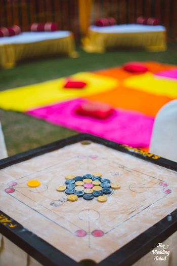 Photo of Carrom board on mehendi