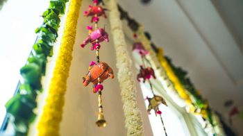 Floral Decor with Elephant Props