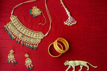 bridal jewellery with sabyasachi logo photography