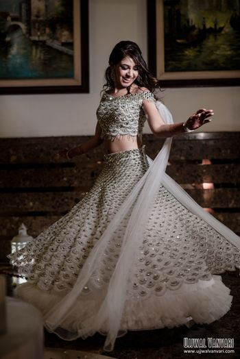 Celebrity Niti Taylor's twirling shot on her engagement