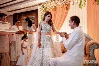 Celebrity Niti Taylor clicked as her beau puts a ring on her finger